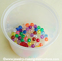 bead tub/Bead Tub of Jewelry Making Parties