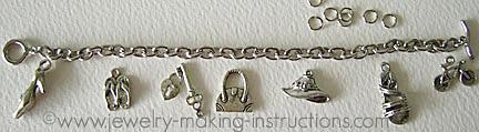 Supplies for Charm Bracelet