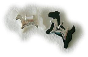 silver dog charm set