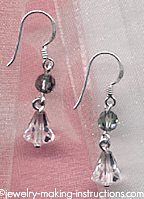 Erinite Blue Crystal Earrings/erinite blue crystal earrings