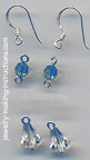 Earrings Supplies/blue swarovski austrian crystals