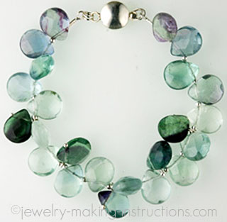 green fluorite quartz bracelet/Green Fluorite Quartz Bracelet