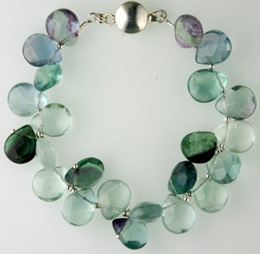 fluorite quartz bracelet Faceted Green Fluorite Quartz Bracelet