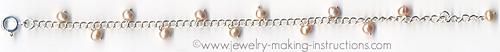 Freshwater Pearl Bracelet/freshwater pearl chain bracelet
