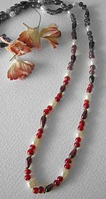 garnet necklace 2s Endless Garnet Necklace