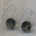 grey swarovski crystal earrings