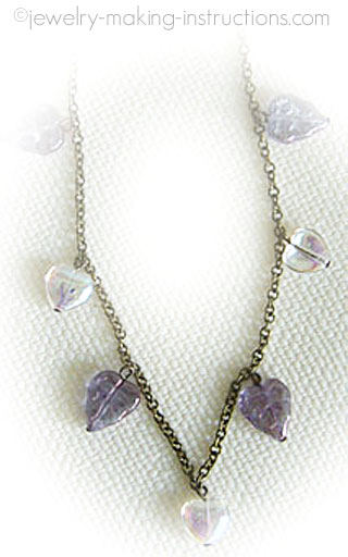 hearts and leaves anklet/Hearts with Leaves Anklet