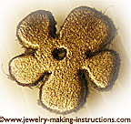 leather flower/Leather Flower for Anklet