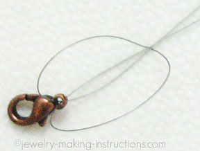 lobster clasp to wire/Attaching Clasp to Wire