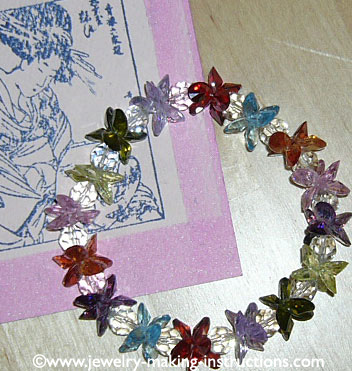 lotus crystal bracelet/Lotus Crystal Bracelet