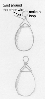 making a loop Beautiful Pear Shaped Pendeloque Faceted Rock Crystal Pendant