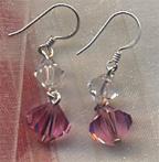 pink earrings Sweet Sparkling Pink Swarovski Crystal Earrings