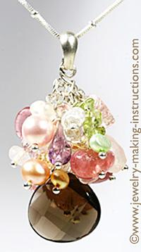 Rock Crystal Pear Pendant