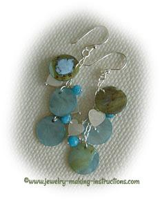dangling sea shell earrings/Dangling Sea Shell Earrings