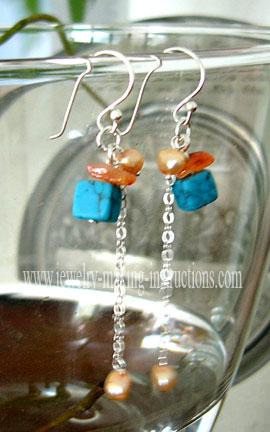 turquoise dangling earrings/Turquoise Dangling Earrings