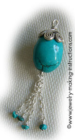 turquoise drop 1 Make Beautiful Turquoise Jean Jewelry