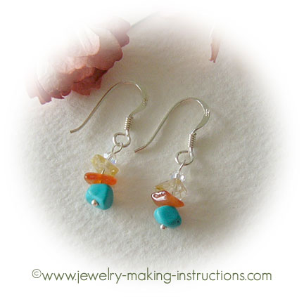 turquoise dangling earrings/Turquoise Dangling Earrings