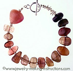 watermelon tourmaline bracelet/Watermelon Tourmaling Bracelet