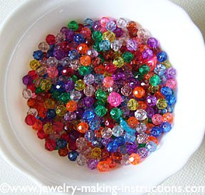 bowl of beads/Beads In Bowl for Jewelry Making Parties