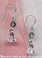 Erinite Blue Crystal Earrings/erinite blue crystal earrings