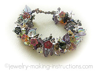glass beads bracelet/Multi-colored Glass Beads Bracelet