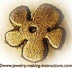 leather flower/Leather Flower for Anklet