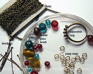 jewelry supplies/Supplies for Bohemian Ring