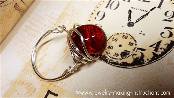 wire wrapped ring/Jewelry Making